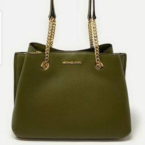 Michael Kors large long chain tegan purse
